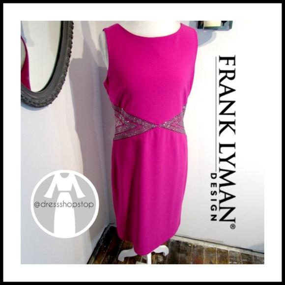 Frank Lyman Dresses & Skirts | Frank Lyman Hot Pink Cocktail Dress ...